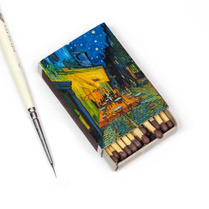 Van-Goghs-paintings-still-look-amazing-on-tiny-matchboxes2