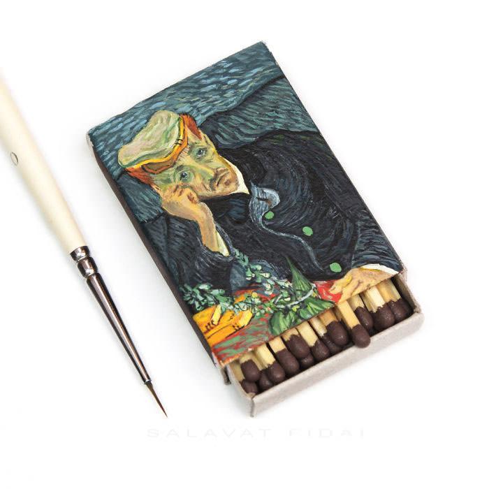 Van-Goghs-paintings-still-look-amazing-on-tiny-matchboxes3