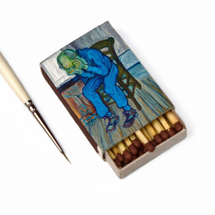 Van-Goghs-paintings-still-look-amazing-on-tiny-matchboxes4