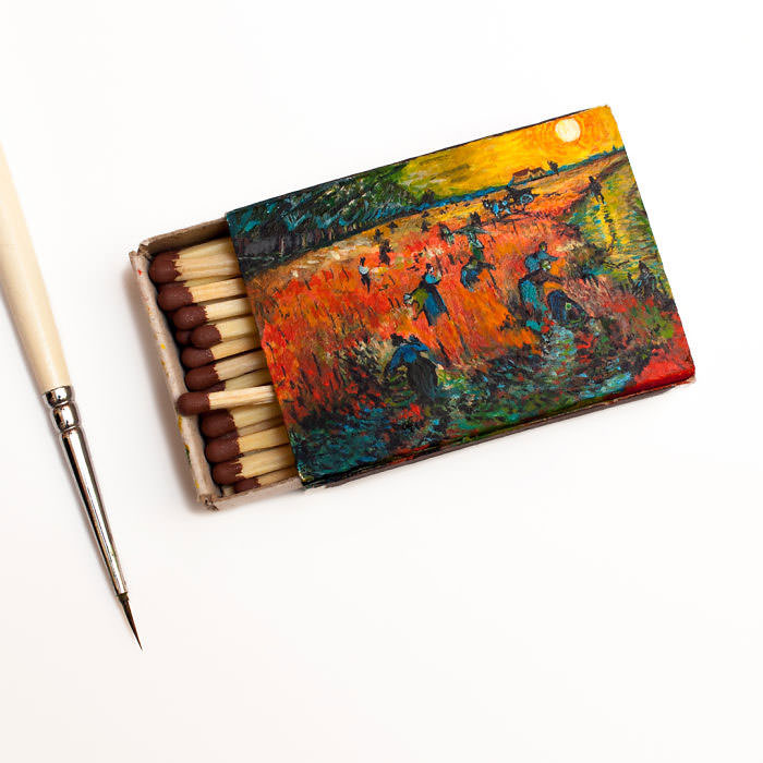Van-Goghs-paintings-still-look-amazing-on-tiny-matchboxes5