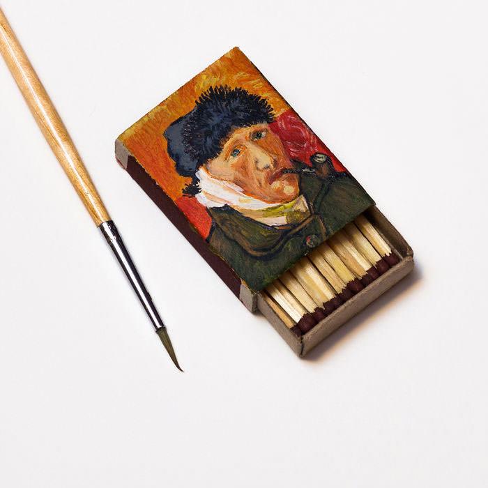 Van-Goghs-paintings-still-look-amazing-on-tiny-matchboxes6