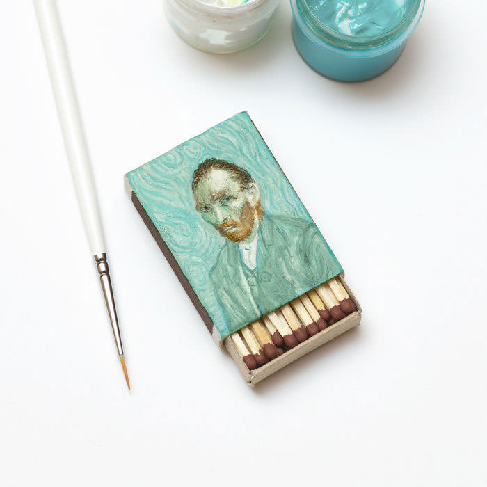 Van-Goghs-paintings-still-look-amazing-on-tiny-matchboxes7